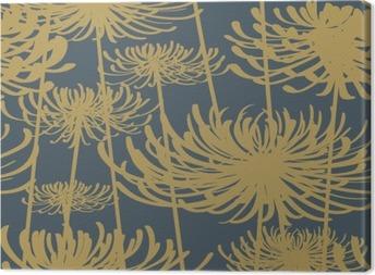 Obraz na Plátně Květinový bezproblémové vzorek vintage styl
