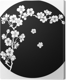 Obraz na Plátně Kvetoucí třešeň inkoustem