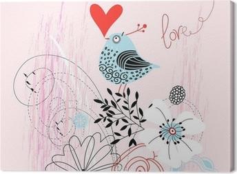 Obraz na plátně Láska pták