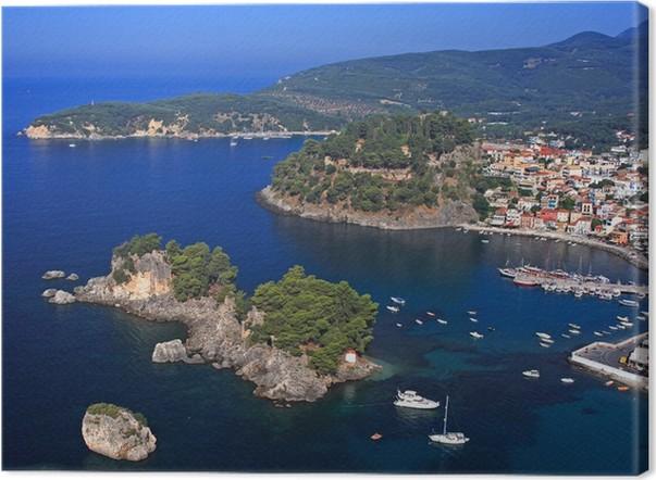 Obraz na plátně Letecký pohled na Řecko Parga - Evropa