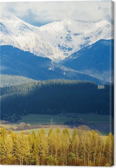 Obraz na plátně Liptovská Mara s Západních Tater v pozadí, na Slovensku - Témata