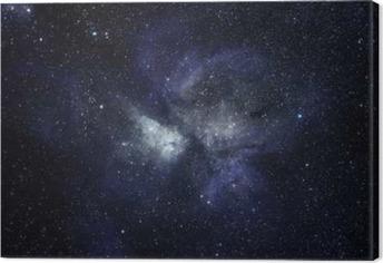 Obraz na plátně Modrá prostor pozadí