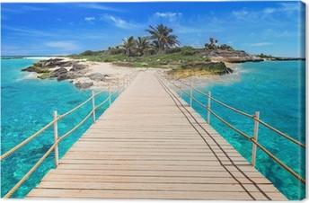 Obraz na Plátně Molo na tropickém ostrově Karibského moře