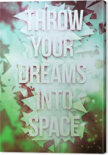 Obraz na plátně Motivační Plakát -