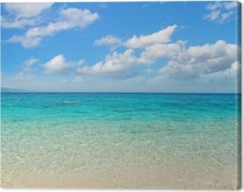 Obraz na plátně Mraky nad Cala Mariolu pobřeží