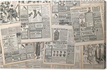 Obraz na Plátně Novinové stránky se starožitným inzerát