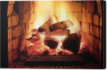 Obraz na Plátně Oheň v krbu