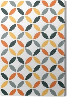 Obraz na Plátně Orange Geometrická Retro bezešvé vzor