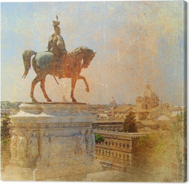 Obraz na plátně Památek ve velké Italové série -Řím - Evropská města