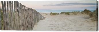 Obraz na Plátně Panorama krajiny písečných dun systému na pláži při východu slunce