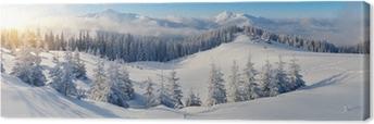 Obraz na Plátně Panorama zimních hor