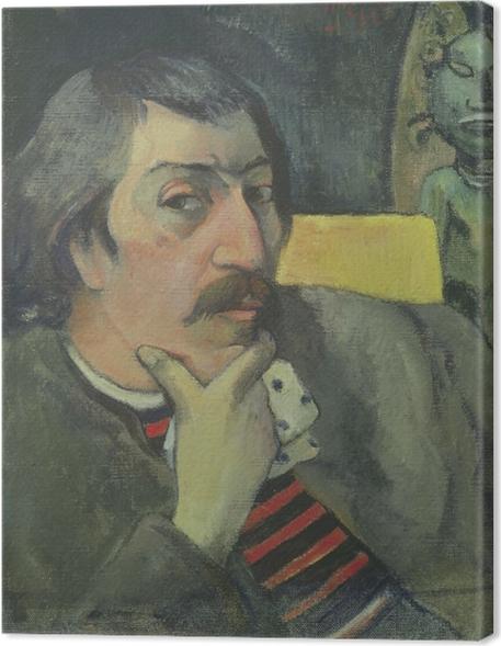 Obraz na plátně Paul Gauguin - Autoportrét s Idol - Reprodukce