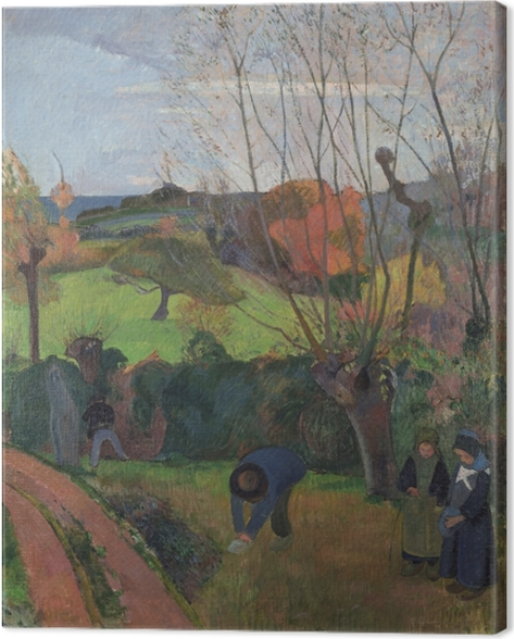 Obraz na plátně Paul Gauguin - The Willows - Reprodukce