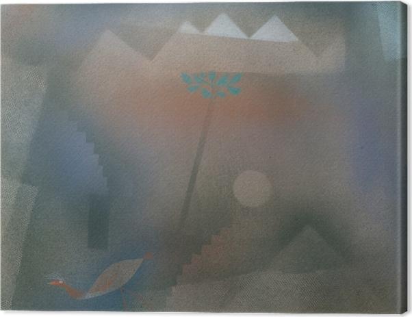 Obraz na plátně Paul Klee - Bird Putování Off - Reprodukce