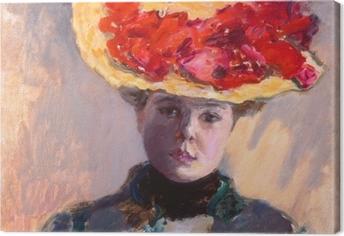 Obraz na plátně Pierre Bonnard - Девушка в соломенной шляпе