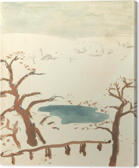 Obraz na plátně Pierre Bonnard - Зимний пейзаж - Reproductions
