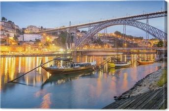Obraz na Plátně Porto, Portugalsko Město Skyline na řece Douro