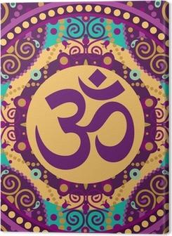 Obrazy na plátně premium Mandala ohm