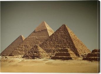Obraz na plátně Pyramides - Gizeh / Egypt