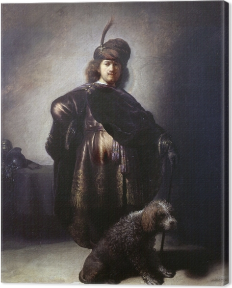 Obraz na plátně Rembrandt - Autoportrét v orientálním kostýmu - Reprodukce
