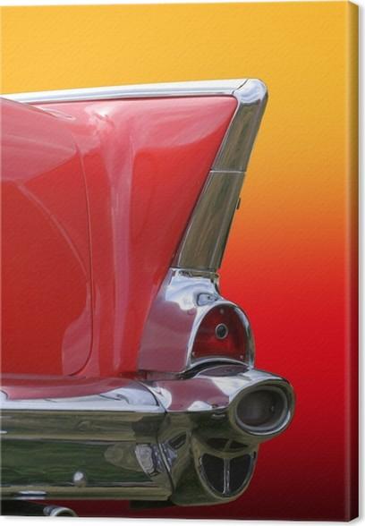 Obraz na plátně Retro Car svítilny - Na cestě
