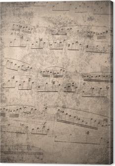 Obraz na Plátně Ročník hudební poznámky