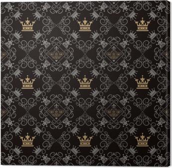 Obraz na Plátně Royal pozadí, bezešvé vzor