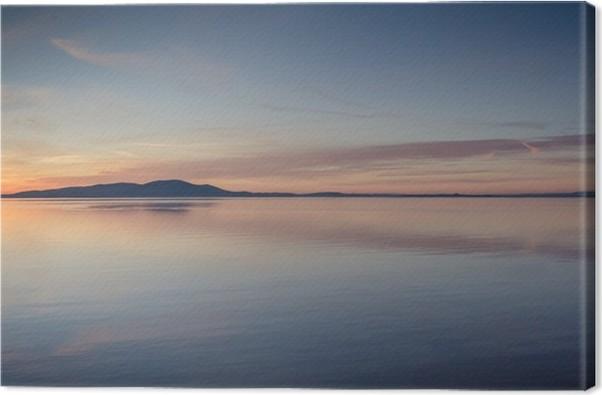 Obraz na plátně Silloth západ slunce dívat se přes Solway Firth - Voda