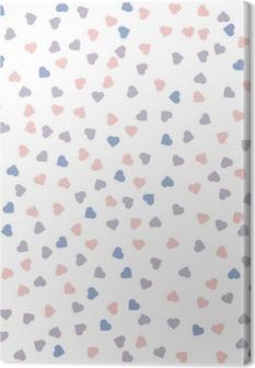 Obraz na plátně Srdce bezproblémové vzorek. Vektorové ilustrace. Růženín a vyrovnanost barvy.
