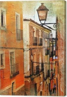 Obraz na plátně Staré ulice Španělsko - umělecké fotografie