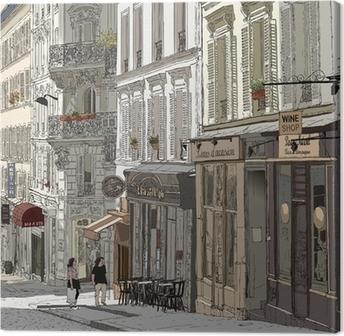 Obraz na Plátně Street na Montmartru