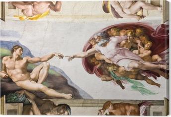 Obraz na Plátně Stvoření Adama Michelangelo, Sixtinská kaple, Řím