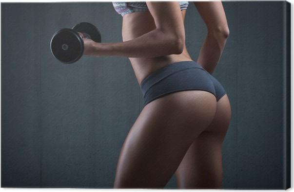 Obraz na plátně Velmi sexy mladá krásná zadek v tangách. Krásná sportovní žena - Zdraví