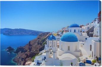 Obraz na Plátně Vesnice Oia na Santorini