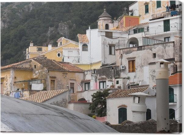 Obraz na plátně Vietri Albori panorama del villaggio - Prázdniny