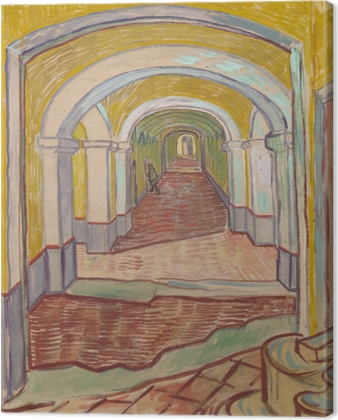 Obraz na plátně Vincent van Gogh - Chodba v azylové - Reproductions