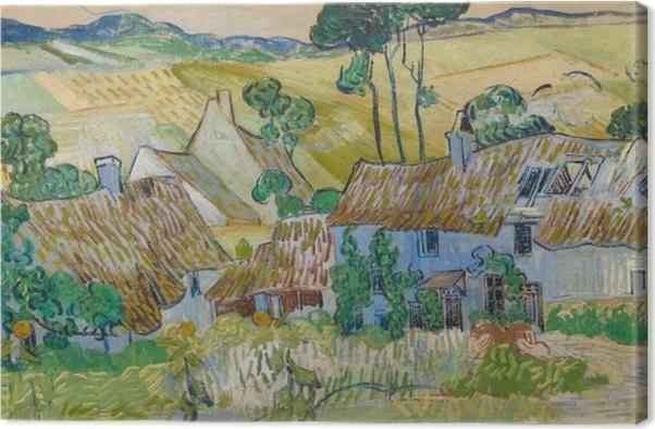 Obraz na plátně Vincent van Gogh - Farmy poblíž Auvers - Reproductions