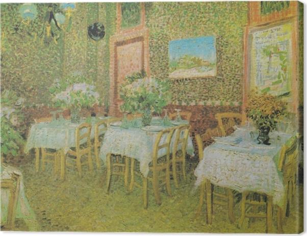Obraz na plátně Vincent van Gogh - Interiér restaurace - Reproductions