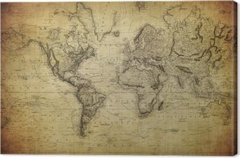 Obraz na plátně Vintage mapa světa 1814 ..