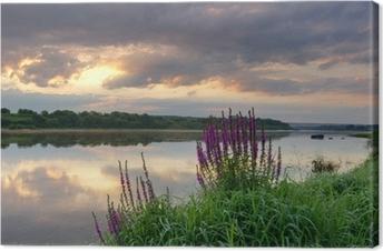 Obraz na Plátně Východ slunce nad řekou