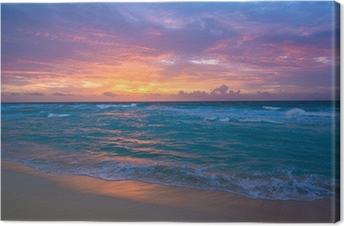 Obraz na Plátně Východ slunce v Cancúnu