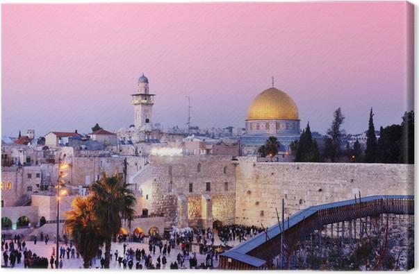 Obraz na plátně Zeď nářků a Skalní dóm v Jeruzalémě, Izrael - Témata