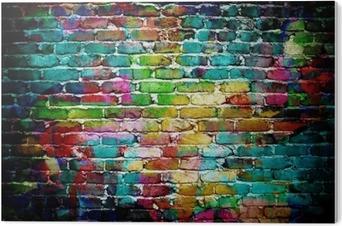 Obraz na Pleksi Graffiti mur ceglany