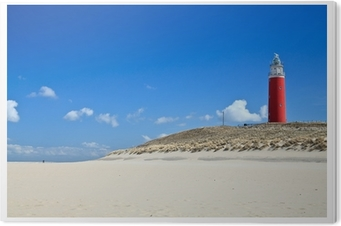 Obraz na Pleksi Latarnia morska w wydmy na plaży