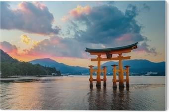 Obraz na Pleksi Świetne zmiennoprzecinkowa brama (O-Torii) w Miyajima