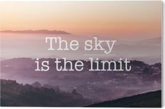 Obraz na Plexiskle Obloha je limit, hluboké hory pozadí