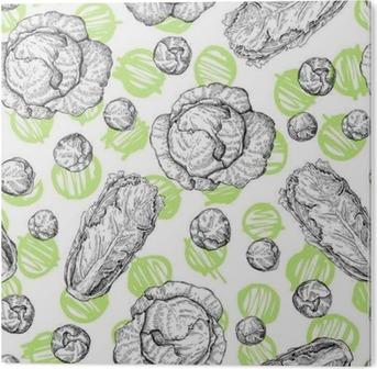 Obraz na Plexiskle Zelí ručně kreslenými vektorové bezešvé vzor.