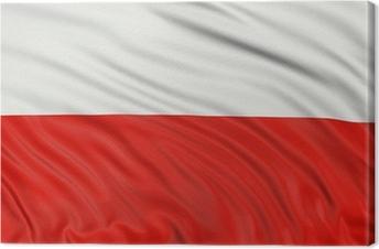 Obraz na płótnie 3D polska flaga