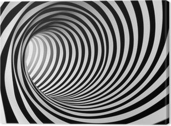 Obraz na płótnie 3d streszczenie spirali tle w czerni i bieli