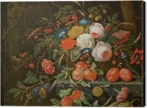 Obraz na płótnie Abraham Mignon - Flowers and Fruit - Reprodukcje